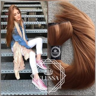 HAIR EXTENSIONS ELESSA - Натурални Екстеншъни Комплект от 200 грама Коса / 60 см