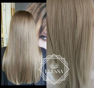 Луксозен Комплект Натурално Удължение / Кичурен Екстеншън - HAIR EXTENSIONS ELESSA 8 реда - 18 клипса - 60 см