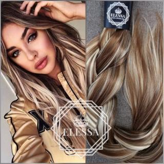 Луксозен Комплект Натурално Удължение / Кичурен Екстеншън-HAIR EXTENSIONS ELESSA *190 грама