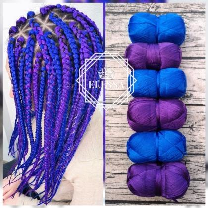 Бразилско Влакно / Прежда за Плетене на Плитки за Коса / Сенегалски Плитки / Афро Плитки / Плетене на Коса / Цветни Удължения за Коса