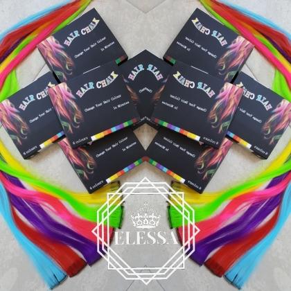 Оцветяващи Тебешири за Коса 6 Броя Комплект / Цветни Тебешири за Коса / Парти Аксесоари