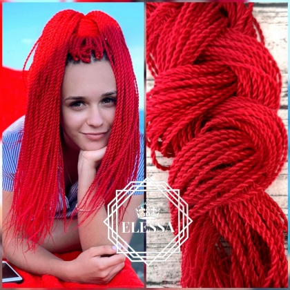 Senegalese Twist / Hair Twisters Red Color, Afro Hairstyle, Hair Extensions