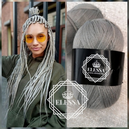 Brazilian Yarn for Braids High-Quality Acrylic wool for Hair Jumbo Braids, Senegalese Twist/ Wraps Natural / Knitting Hair ,Light Grey Braids