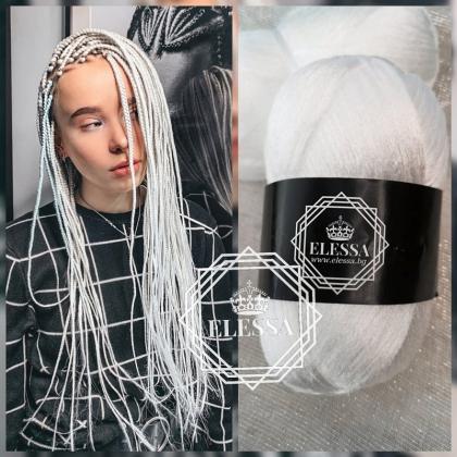 Бразилско Влакно / Прежда За Плетене на Плитки за коса / Сенегалски Плитки / Афро Плитки / Плетене на Коса, Прежда за Коса ,Прежда за Прически, Бяла Прежда