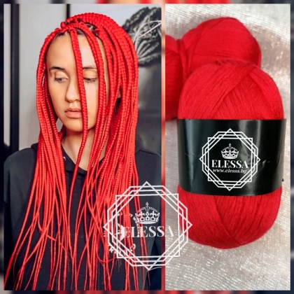 Brazilian Yarn for Braids High-Quality Acrylic wool for Hair Jumbo Braids, Senegalese Twist/ Wraps Natural / Knitting Hair ,Red Braids