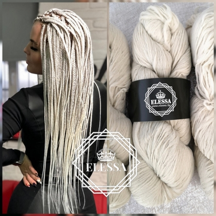 Brazilian Yarn for Braids High-Quality Acrylic wool for Hair Jumbo Braids, Senegalese Twist / Wraps Natural / Knitting Hair, Platinum Blonde Color Braids