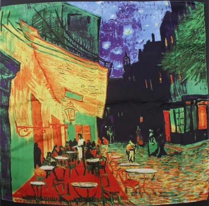 Шал - Винсент ван Гог / Café Terrace at Night ( Кафе тераса през нощта )