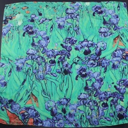 Шал - Винсент ван Гог / Irises ( Ириси ) Сини Цветя