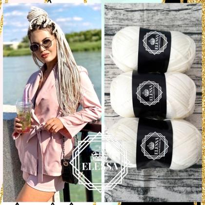 Brazilian Yarn for Braids High-Quality Acrylic wool for Hair Jumbo Braids, Senegalese Twist / Wraps Natural / Knitting Hair, Milky Blonde Color Hair Braids