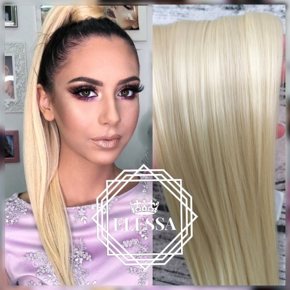 Ponytail with Tape Hair Natural Blonde #613 Color ELESSA